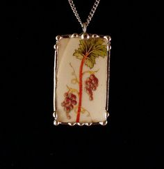 Broken china jewelry necklace pendant