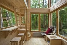 Hotel W drzewach w Nałęczowie Tree House Designs, Tiny House Design, Normal House, Cliff House, Building A Tiny House, Hygge Home, Unique Hotels, Tiny House Movement, Big Windows