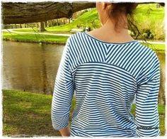 """Damen Raglanshirt """"Bethioua"""" mit raffinierter Rückenpasse - Nähanleitungen bei Makerist"""