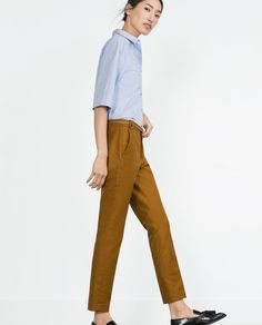 ZARA - COLLECTION AW15 - DOUBLE CLOTH TROUSERS