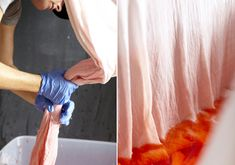 DIY dip dyed swaddles | 100 Layer Cakelet