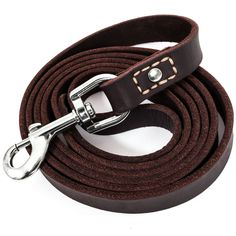 "Leatherberg Leather Dog Training Leash 6 Ft Long x 3/4"" Wide Dog Walking Leash Best for Medium Large Dogs Latigo Leather Dog Lead & Puppy Trainer Leash dark brown"