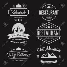 Ensemble de différents logo et le logotype éléments pour restaurant, un café, une cafétéria, un bar ou une société