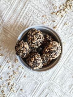recette_boule_énergie_projet_pastel Cereal, Muffins, Oatmeal, Pastel, Breakfast, Desserts, Food, Meal, Cooking Food