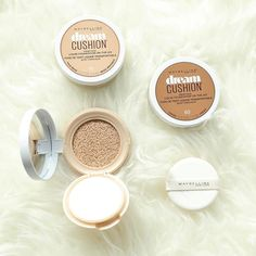 Get luminous coverage with the Maybelline Dream Cushion Foundation.  This travel-friendly cushion compact allows you to do touch ups on the go!