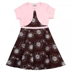 Big Girl Floral Embroidered Dress With Shrug