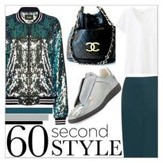 """60 Second Style: Daytime Sequins"" by martso ❤ liked on Polyvore featuring moda, Rebson, Chanel, Uniqlo y Maison Margiela"