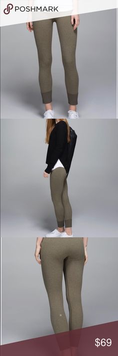 NWT Lululemon Ebb To Street Pant Size Olive Size 6 Lululemon Ebb To Street Pant Size 6 Brand New with Tags- Out of Stock!  Heathered Fatigue Green Style number W5E67S We designed these sleek, lightweight pants to take us through our day without a fuss. Breathable, sweat-wicking fabric and a seamless construction help keep us comfortable whether we're sitting in Lotus pose, a deep squat or an armchair at the coffee shop.  •designed for: yoga, gym, pilates - everything! •fit: tight…
