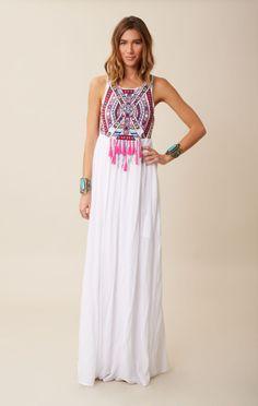 embroidered maxi dress // Mara Hoffman #planetblue
