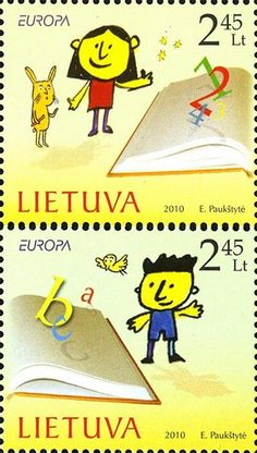Lithuania - Europa 2010 Children's books stamps