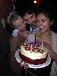 nina dobrev celabrating her 25 birthday photos   Nina Dobrev celebrated her 25th birthday with Ian Somerhalder and ...