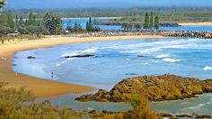 Lovely view of the Breakwall in Port Macquarie