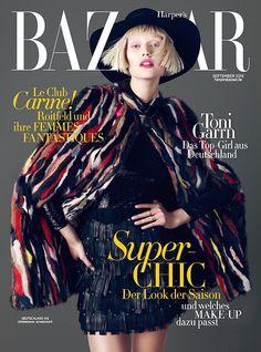 Harper's Bazaar Germany September 2014 cover: Toni Garrn