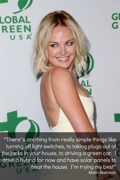 """I'm trying my best"" - Malin Akerman on the green carpet at Global Green USA's 11th annual Pre-Oscar Party."