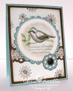 Language of Friendship Masked Circle Bird by stampcrave - Cards and Paper Crafts at Splitcoaststampers