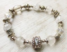 Armbänder - Luxus Funkel Armband Quarz Bergkristall…