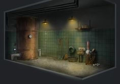 Project Discord - Indie Video Game ~ Janitor Closet 3 Concept Art, Discord, Video Game, Indie, Lost, Conceptual Art, Video Games, Videogames, India