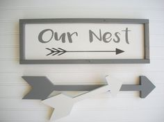 Our Nest Sign . Bless Our Nest . Fixer Upper. by RessieLillianToo