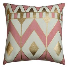 Rizzy Home Rachel Kate Geometric Chevron Throw Pillow, Pink