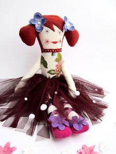 OOAK Cloth Ballerina Doll