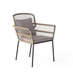 FAUTEUIL REPAS A CORDE SEVENTIES - Serenite Luxury Monaco Outdoor Armchair, Outdoor Chairs, Outdoor Furniture, Outdoor Decor, Monaco, Water, Design, Home Decor, Cord