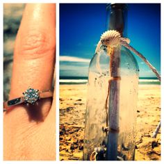 Beach proposal the perfect proposal! Beach Proposal, Perfect Proposal, Honeymoon Bridal Showers, Wedding Engagement, Engagement Rings, Maybe One Day, Proposals, Marry Me, Falling In Love