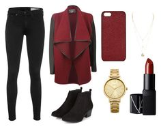 Red Autumn by nicolle-en on Polyvore featuring rag & bone, Oasis, Maison Takuya and NARS Cosmetics