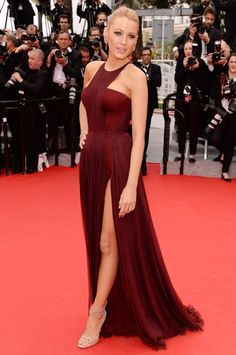 Blake Lively Stuns in Marsala Gown