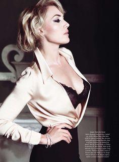 Kate Winslet photographed by Tom Munro in «Forever Chic» for Harper's Bazaar UK November 2011