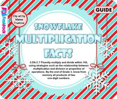 Snowflake Multiplication Facts SMART BOARD Game - FREE from FlapJack Ed Resources on TeachersNotebook.com -  (20 pages)