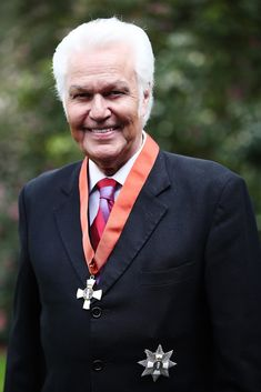 Sir John Rowles poses for a photo after receiving a KNZM, for services to entertainment during investiture ceremonies at Government House on October 11, 2018 in Auckland, New Zealand. Twice a year, the Governor-General holds investiture ceremonies at Government House in Wellington and Government House in Auckland for the people named in the New Year and Queen's Birthday honours lists. Investiture Ceremony, Queen Birthday, People Names, Auckland, New Zealand, October, Entertainment, Poses, Figure Poses