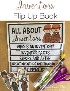 Learning all about inventors is such a fun unit for my kids! With this inventors activity they are able to read, write, and be creative as they write about their own invention!