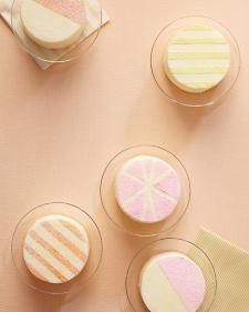 These dazzling desserts start with basic fondant or buttercream cakes. Pick one up from a great pastry chef, then decorate it yourself with these amazing embellishments.