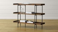 Beckett 3-High Shelf | Crate and Barrel, works with the chair, dropleaf origami table