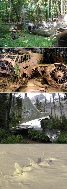 crashed aircraft Abandoned Aircraft, Airfields, Airbases and Airport Terminals