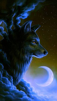 Wolf Wallpaper by georgekev - 38 - Free on ZEDGE™ now. Browse millions of popular animal Wallpapers and Ringtones on Zedge and personalize your phone to suit you. Browse our content now and free your phone Tier Wallpaper, Wolf Wallpaper, Animal Wallpaper, Black Wallpaper, Anime Wolf, Artwork Lobo, Wolf Artwork, Fantasy Wolf, Dark Fantasy Art