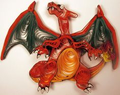 Paper Quilling Charizard - 006 by wholedwarf on deviantART
