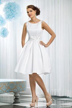 la lucienne bridal 2015 obsydian sleeveless short wedding dress