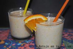 Batido de naranja, plátano y miel especiado - orange, banana and honey milkshake