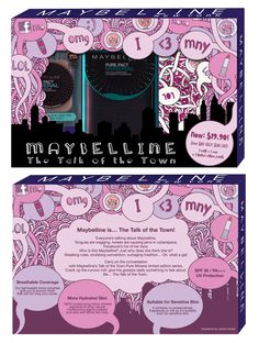maybellne makeup package and pouch design design