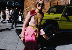 Carmen Hamilton in a Gucci dress