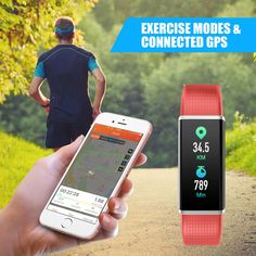 LETSCOM Fitness Tracker Heart Rate Monitor Watch with Color Screen Waterproof Step Counter Calorie Counter Sleep Monitor Pedometer Smart Watch for Kids Women and Men *** You can find out more details at the link of the image. (This is an affiliate link) Fitness Tracker Reviews, Ios Phone, Calorie Counter, Heart Rate Monitor, Smart Watch, Cell Phone Accessories, Fitbit, Sleep, Exercise
