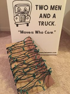 Christmas storage hack! Wrap lights around cardboard to keep them in great condition while avoiding getting all tangled up!