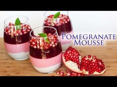 Triple-Layer Pomegranate Mousse Dessert - Tatyanas Everyday Food