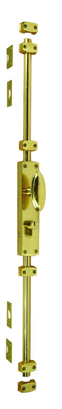 Frelan Espagnolette bolt in Polished Brass