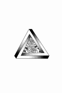 Penrose Triangle - Tyler Genovese Art - Sister and Brother Dreieckiges Tattoos, Mini Tattoos, Tattoo Drawings, Small Tattoos, Sleeve Tattoos, Tattoos For Guys, Penrose Triangle, Triangle Art, Triangle Tattoos