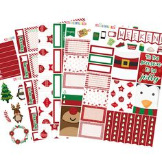 Christmas Sticker Kit Christmas Planner by ShopStickerpalooza