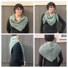 Woodland Heather crocheted Triangle Scarf perfect to lightly warm you in the fall weather