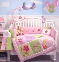 SoHo Butterfly Meadows Crib Nursery Bedding Set 10 pcs by SoHo Designs, http://www.amazon.co.uk/dp/B004AFPAN8/ref=cm_sw_r_pi_dp_SP.dsb0REB8Z0