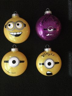 One in a Minion! These glitter disc ornaments are the perfect edition to any Christmas tree! Ornaments are round discs with vinyl designs.